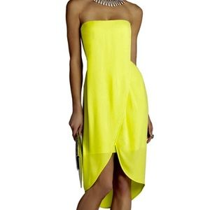 BCBGMaxAzria Dresses - BCBG Harriet Strapless Draped Wrap Dress